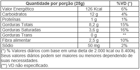 Tabela Nutricional Chips Batata Doce 45g Roots to Go