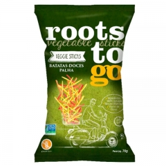 imagem Chips Batatas Doces Palha 70g Roots to Go