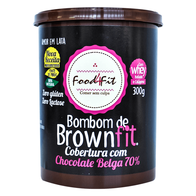 imagem Bombom de Brownfit Chocolate Belga 70% 300g Food4Fit